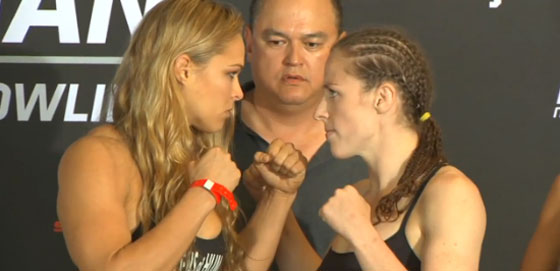 Strikeforce: Rousey vs. Kaufman – wyniki