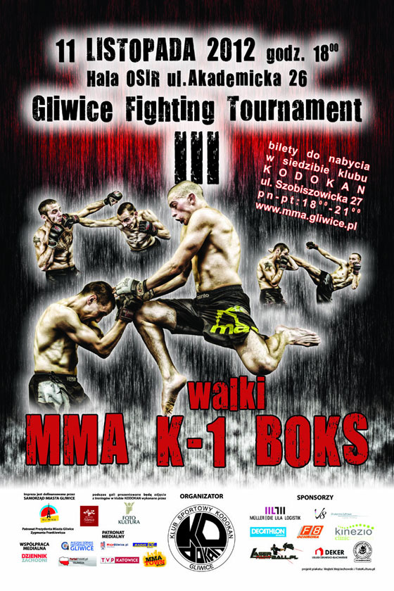 Gliwice Fighting Tournament III – rozpiska