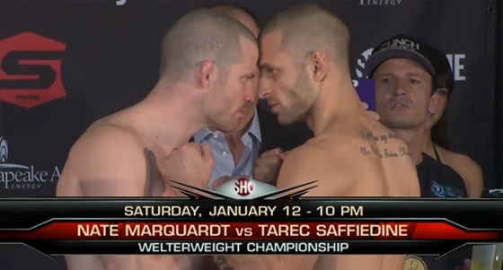 "Wyniki + video z ważenia przed Strikeforce: ""Marquardt vs. Saffiedine"""
