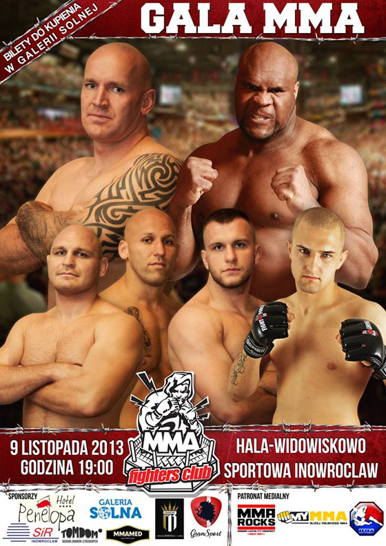 Oficjalny plakat MMA Fighters Club + fight card