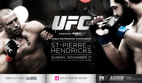 UFC 167: St-Pierre vs. Hendricks – wyniki