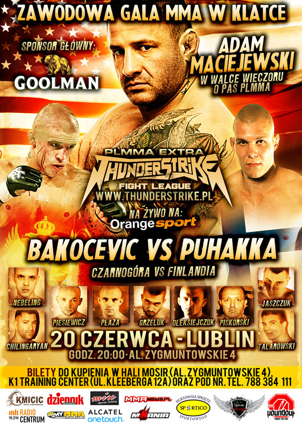 Oficjalny plakat Thunderstrike Fight League 5/PLMMA 35