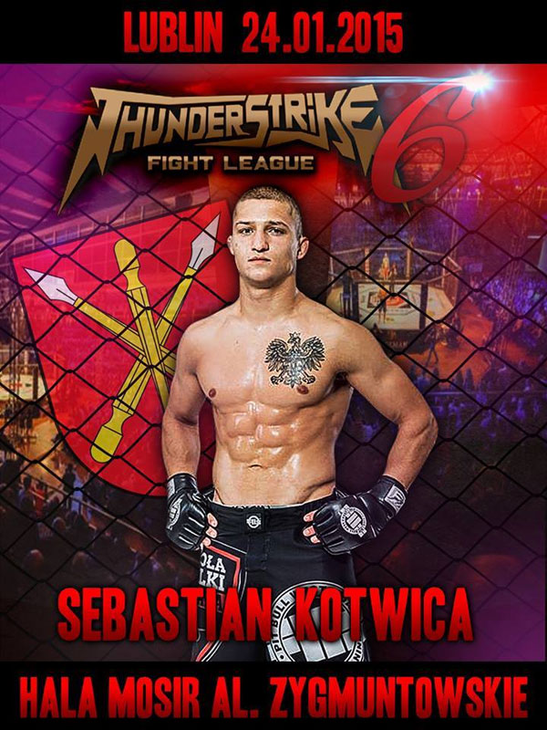 Sebastian Kotwica na Thunderstrike Fight League 6 w styczniu