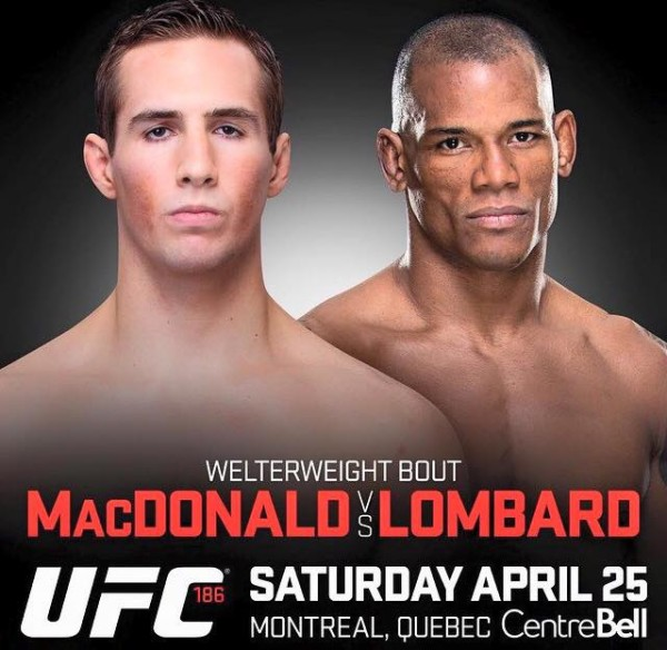 UFC 186: Starcie Rory MacDonald vs. Hector Lombard dodane do karty walk w Motrealu