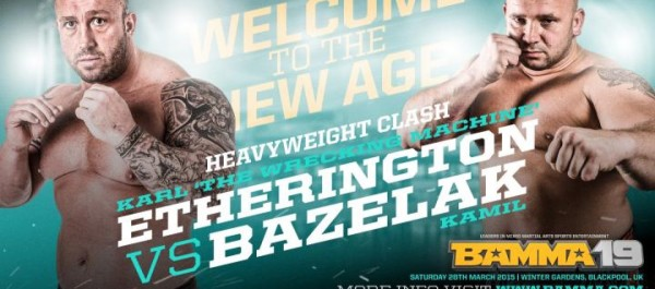 BAMMA 19: Pojedynek Kamil Bazelak vs Karl Etherington dodany do karty walk