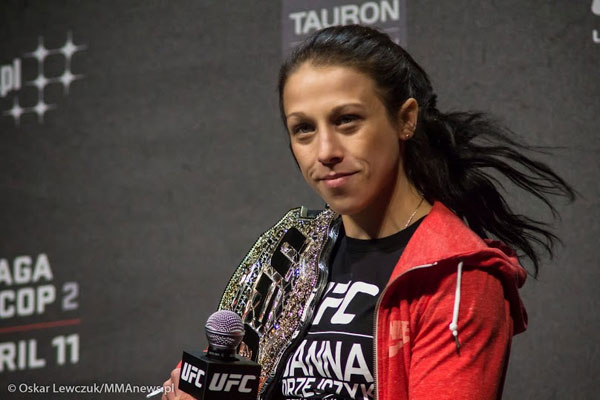 Joanna Jędrzejczyk w studio Polsatu Sport gali Fight Exclusive Night 7