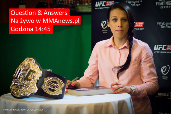 Question & Answers z Joanną Jędrzejczyk – na żywo w MMAnews o 14:45 (+video)