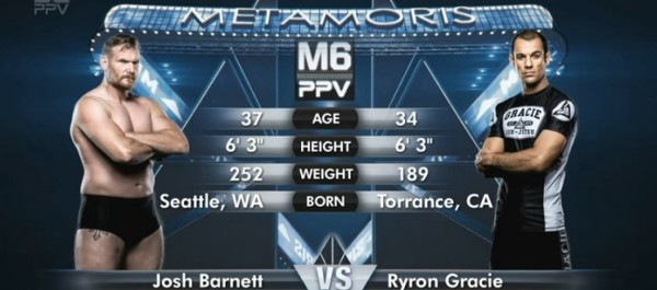 Metamoris 6: Josh Barnett vs. Ryron Gracie (+video)