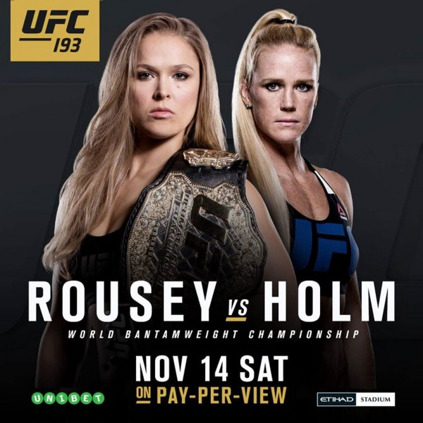 ufc 193 rousey vs. holm