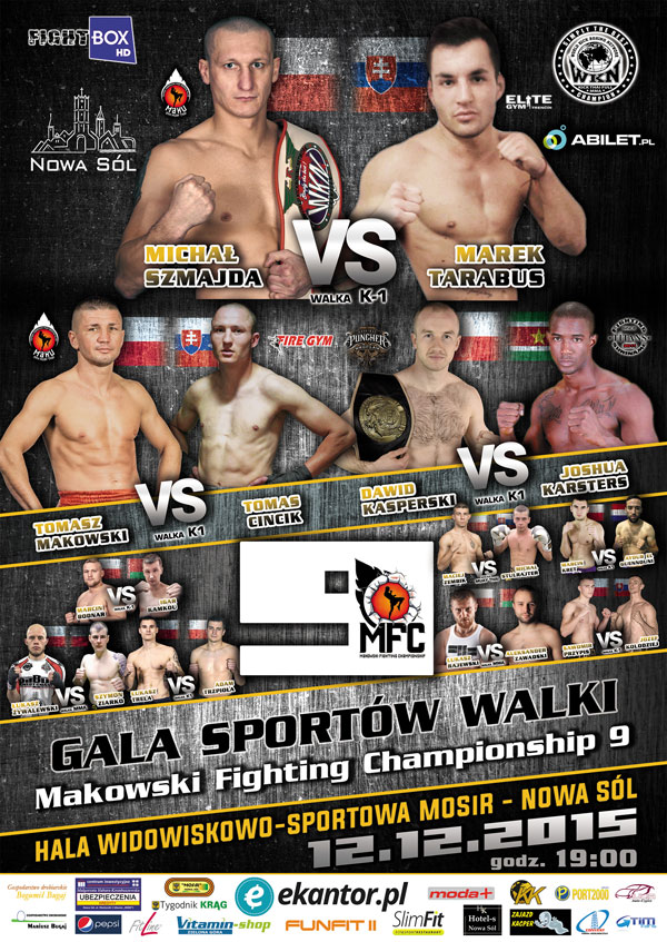 Plakat i karta walk Makowski Fighting Championship 9