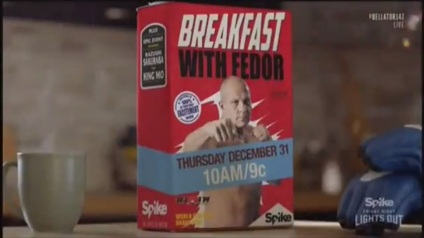 Fedor Emelianenko Breakfast with Champion