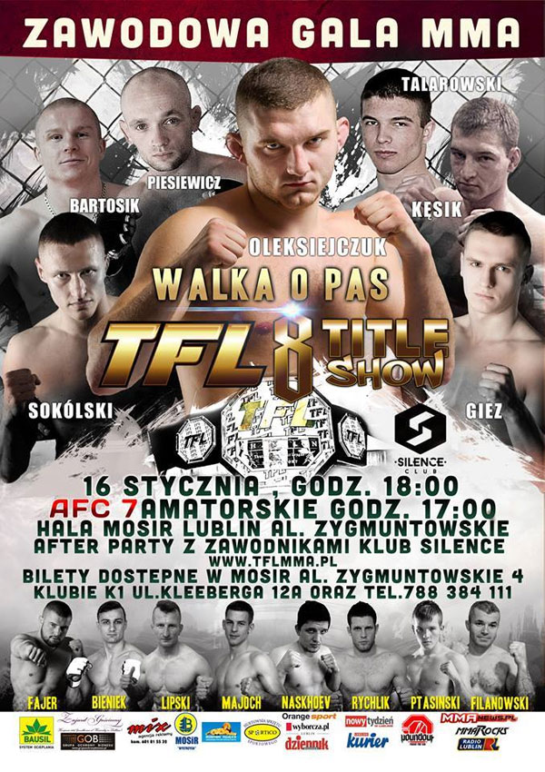 Oficjalny plakat Thunderstrike Fight League 8