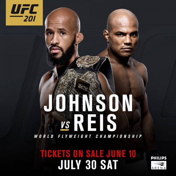 UFC 201: Demetrious Johnson vs. Wilson Reis na gali w Atlancie