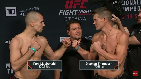 Rory MacDonald vs. Thompson