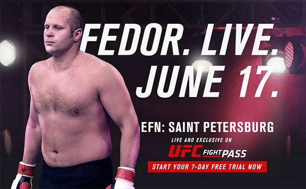 Fedor Emelianenko zawalczy na UFC (Fight Pass)
