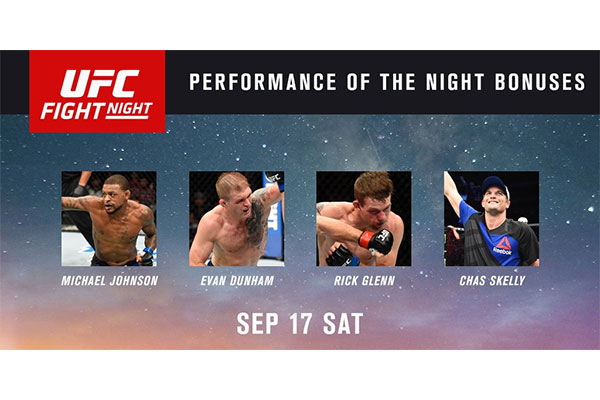 Bonusy po UFC Fight Night 94: Chas Skelly, Michael Johnson, Even Dunham i Rick Glenn