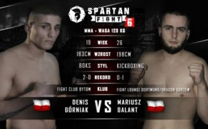 Denis Górniak vs. Mariusz Galant na Spartan Fight 6