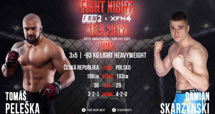 Damian Skarżyński vs Tomas Peleska na Fight Night West 2 w Czechach