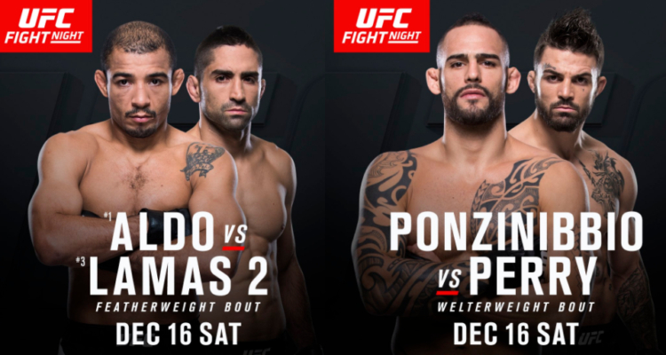 Rewanż Aldo vs Lamas oraz Ponzinibbio vs Perry dodane karty walk UFC on Fox 26