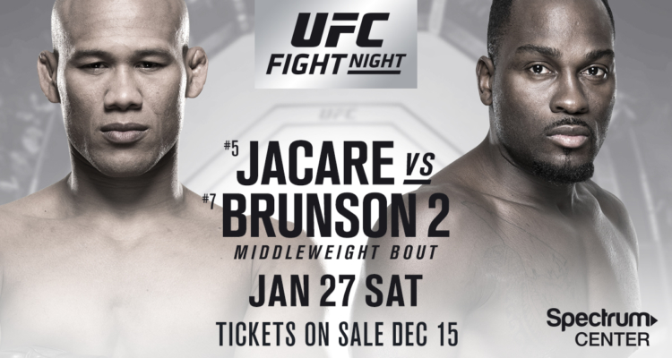 Jacare Souza w rewanżu z Derekiem Brunsonem na UFC on FOX 27